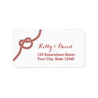 Classy Red Rope Knot Return Address Labels
