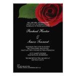 Classy Red Rose Wedding Invitiation -Black Invitation