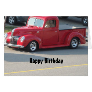 Classy Red Truck - Happy Birthday Card