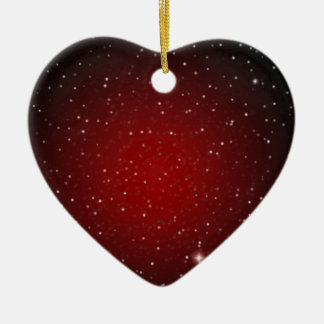 Classy Red with Stars > Heart Ornament