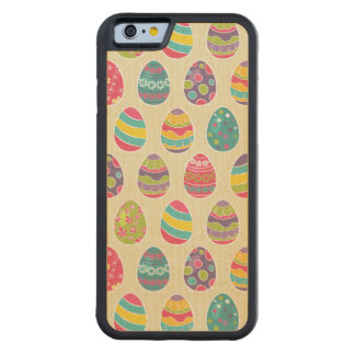 Classy Retro Easter Eggs Happy Easter Day Carved Maple iPhone 6 Bumper Case