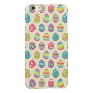 Classy Retro Easter Eggs Happy Easter Day Glossy iPhone 6 Plus Case