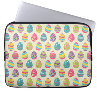 Classy Retro Easter Eggs Happy Easter Day Laptop Sleeve