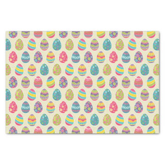 Classy Retro Easter Eggs Happy Easter Day Tissue Paper