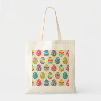 Classy Retro Easter Eggs Happy Easter Day Tote Bag