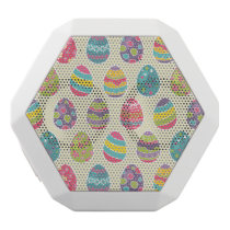 Classy Retro Easter Eggs Happy Easter Day White Bluetooth Speaker