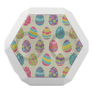 Classy Retro Easter Eggs Happy Easter Day White Boombot Rex Bluetooth Speaker