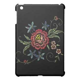 Classy, Retro, Embroidered-Look iPad Case
