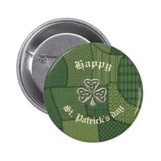 Classy retro Irish lucky shamrock Button