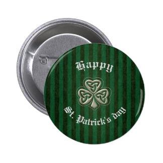 Classy retro Irish lucky shamrock Pins
