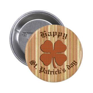 Classy retro Irish lucky shamrock Buttons