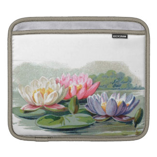 Classy Retro Sassy Sissy Vintage Water Lily Girly Sleeves For iPads