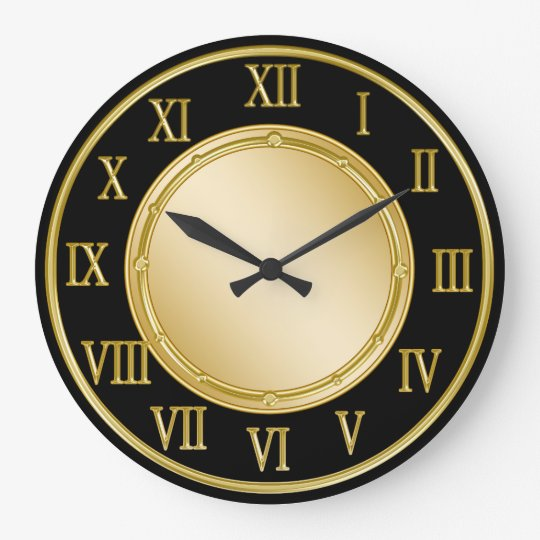 Classy Roman Numeral Kitchen Wall Clocks Zazzle Com