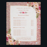 "Classy Rose Gold Glitter Floral Beauty Salon Menu Poster<br><div class=""desc"">================= ABOUT THIS DESIGN ================= Classy Rose Gold Glitter Floral Beauty Salon Menu Poster. (1) The default size is 8 x 10 inches, you can change it to any size. (2) For further customization, please click the &quot;Customize it&quot; button and use our design tool to modify this template. All text...</div>"