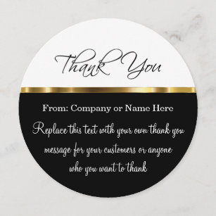 business thank you cards zazzle