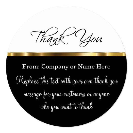 Business thank you invitations announcements zazzle classy round thank you cards with envelopes reheart Images