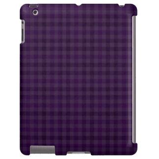 Classy Royal Purple Plaid Custom iPad Case