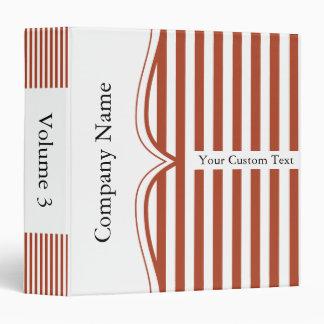 Classy Rust Stripes Binder