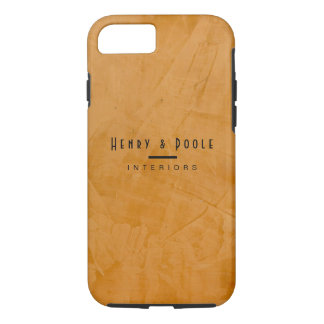 Classy Rustic Dante Orange Interior Designer iPhone 8/7 Case