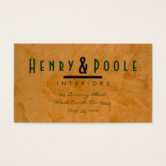 Classy Rustic Interior Designer Business Cards