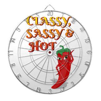Classy Sassy And Hot Pepper Diva Dartboard