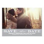 Classy Save the Date PostCard 5x7 Paper Invitation Card