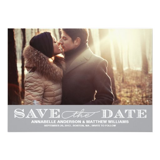 Classy Save the Date PostCard Personalized Invitations