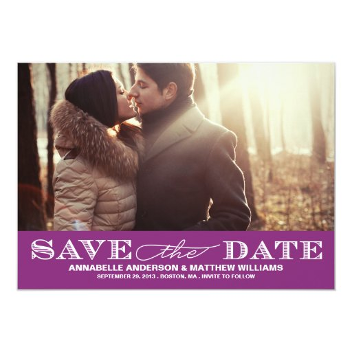 Classy Save the Date PostCard Invitations
