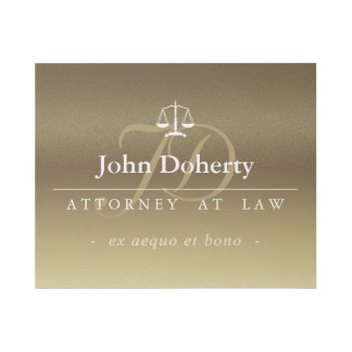 Classy Scales of Justice | Gold Gallery Wrap