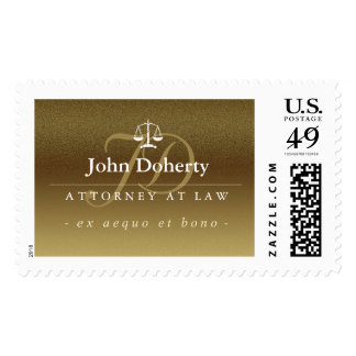 Classy Scales of Justice | Gold Postage