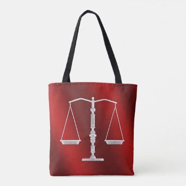 Lawyer Themed Classy Scales of Justice | Graphic Metallic Tote Bag