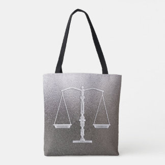 Classy Scales of Justice   Graphic Metallic Tote Bag