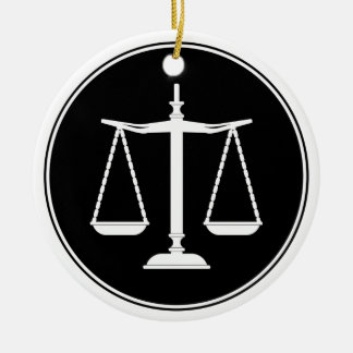 Classy Scales of Justice | Law Gifts Ceramic Ornament