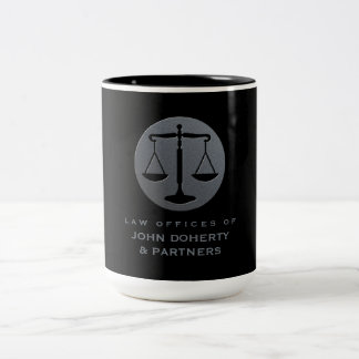 Classy Scales of Justice   Law Office Two-Tone Coffee Mug