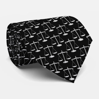 Classy Scales of Justice Pattern | Law Tie