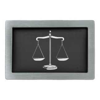 Classy Scales of Justice Rectangular Belt Buckle
