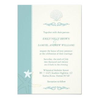 Classy Sea Critters Beach Wedding Invitation