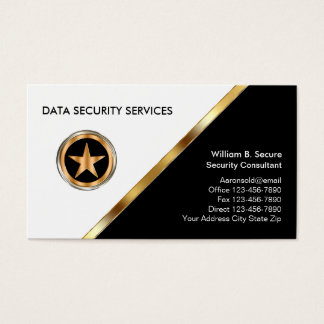 Classy Secuerity Business Cards