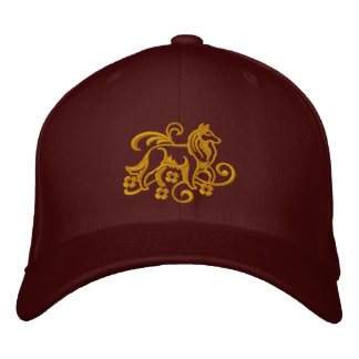 Classy Sheltie Embroidered Baseball Cap