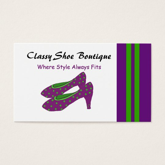 Classy Shoe Boutique Business Card