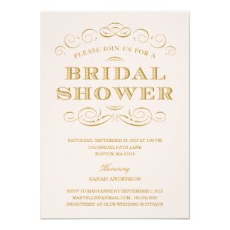 "CLASSY SHOWER | BRIDAL SHOWER INVITATION 5"" X 7"" INVITATION CARD"