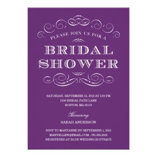 CLASSY SHOWER | BRIDAL SHOWER INVITATION by FINEandDANDY