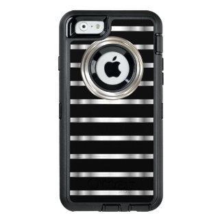 Classy Silver And Black OtterBox Defender iPhone Case