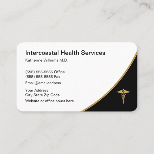 Classy Simple Medical Doctor Office Referral Card