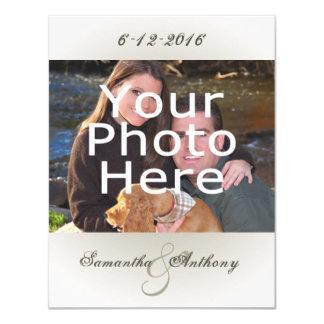 "Classy Simple Photo Wedding Invitations 4.25"" X 5.5"" Invitation Card"