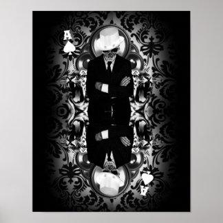Classy skull ace of spades poster