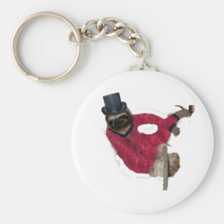 classy sloth key chain