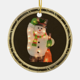 Classy Snowman with Lights Ornament
