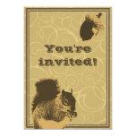 Classy Squirrel & Nut Birthday Party Invitation