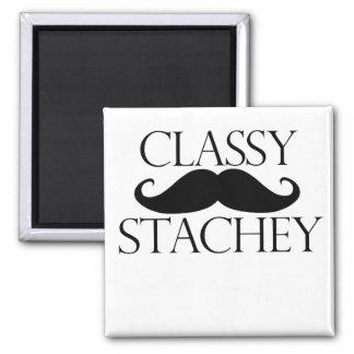Classy Stache Mustache Magnet